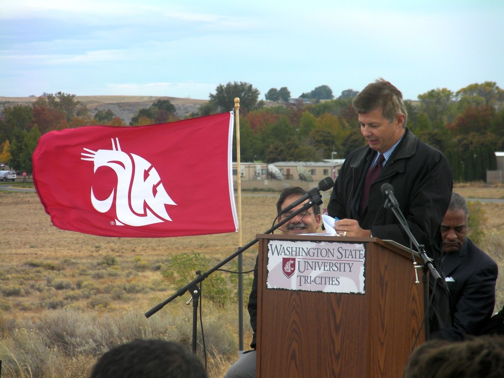 WSU Wine Science Center dedication with Ted Baseler.