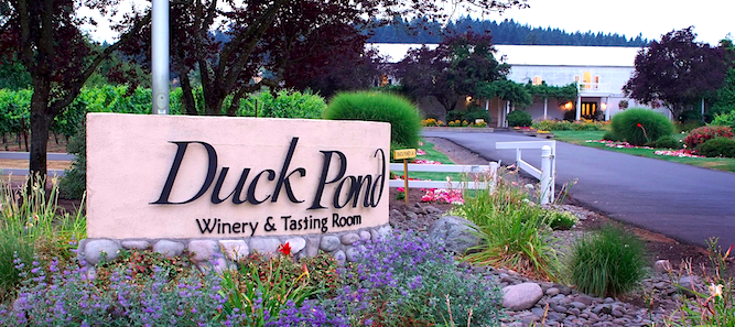 Duck Pond Cellars' winery, tasting room