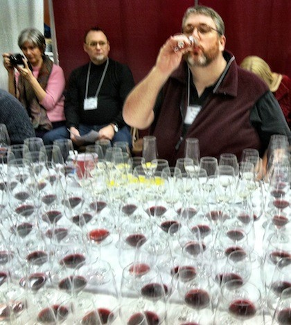 perdue judging 420x470 - A closer look at some Northwest wines at the San Francisco Chronicle judging