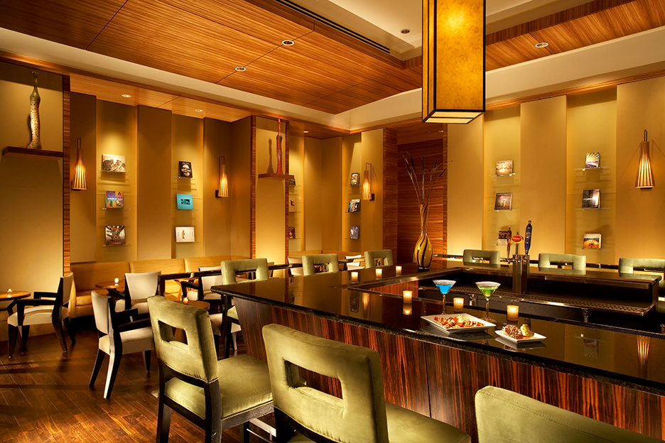 The Pan Pacific Hotel Seattle's lobby bar will play host to extended an extended happy hour each Tuesday during March, which is Washington Wine Month. (Photo courtesy of Pan Pacific Hotel).