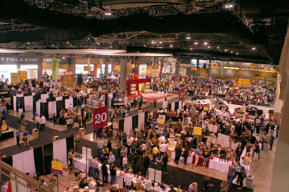 The floor of the CenturyLink Field Event Center in Seattle will fill up with Washington state winemakers, chefs and their fans during 2016 Taste Washington on April 2-3. (Photo by Great Northwest Wine)