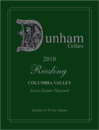 Dunham Cellars 2010 Riesling