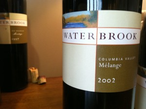 Waterbrook 2002 Melange, Columbia Valley