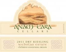Anam Cara Cellars 2011 Dry Riesling