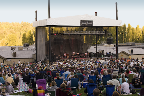 Chateau Ste. Michelle has played host to outdoor summer concerts since 1984. (Photo courtesy of Chateau Ste. MIchelle)