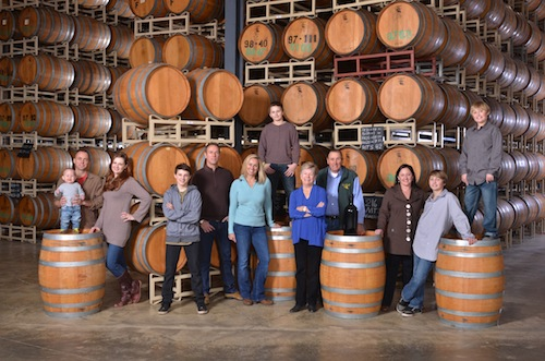 Doug and Jo Ann Fries have surrounded themselves with family and wine during the 20-year history of Duck Pond Cellars in Dundee, Ore. (Photo courtesy of Duck Pond Cellars)