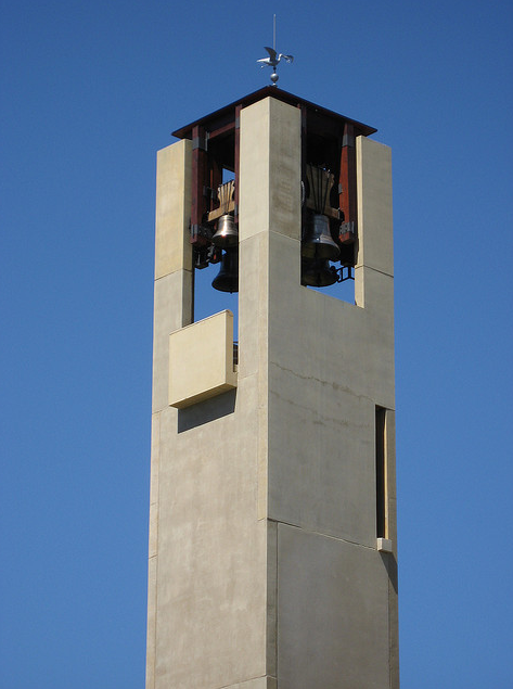 The bell tower at Mission Hill Family Estate in West Kelowna, British Columbia, looks out over Okanagan Lake. (Photo courtesy of Flickr. Click image for credit)