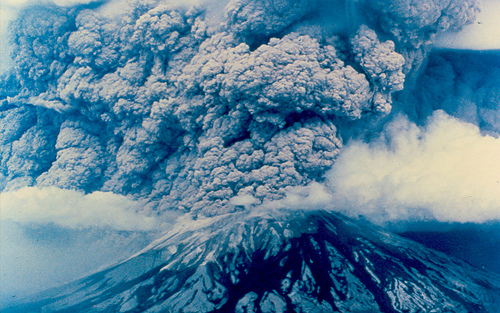 the country before and after the eruption of mount saint helen Grayscale image shows mount st helens in eruption, taken from the air the  plinian  skamania county, washington may 18  she hurled impressive  columns of ash skyward five more times between then and mid-october.