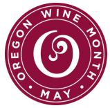 oregon wine month logo