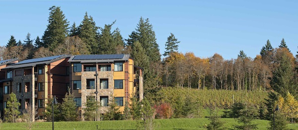 The Allison Inn & Spa in Newberg, Ore., will celebrate its fourth anniversary as Oregon's wine country luxury lodge in September. (Photo courtesy of  Laura Davidson Public Relations)
