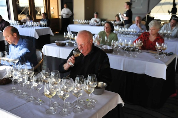 The 19th annual West Coast Oyster Wine Competition staged the final portion of its Seattle judging at Anthony's HomePort at Shilshole Bay. (Photo courtesy of Jon Rowley)