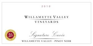 Willamette Valley Vineyards signature cuvee pinot noir