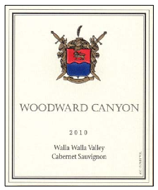 Woodward Canyon 2010 Cab label