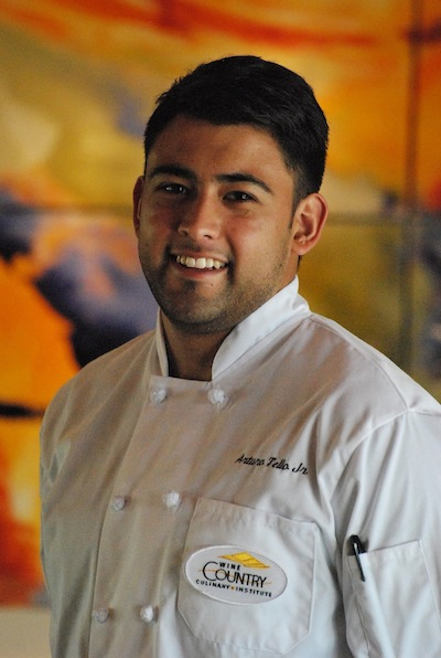 Arturo Tello Jr. serves as executive chef of Woodward Canyon Winery's Reserve House Restaurant in Lowden, Wash. (Photo by Shari Brumbach, Woodward Canyon Winery)