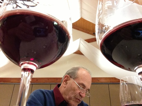Rene Chazottes, a wine professional from Los Angeles, judges red wines at the 2013 Riverside International Wine Competition in Temecula, Calif.