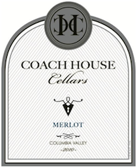 Coach House Cellars 2010 Merlot