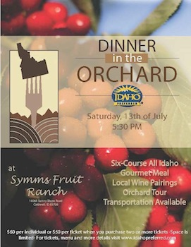 Dinner on the Orchard flyer