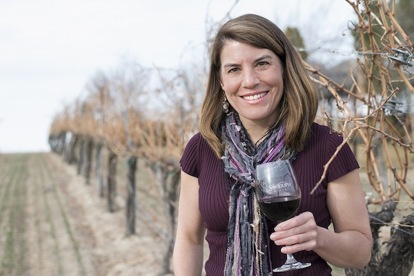 Meredith Smith is the head winemaker at Sawtooth Winery near Nampa, Idaho.