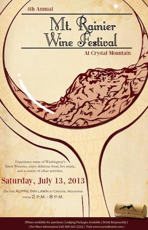 Mount Rainier Wine Festival poster