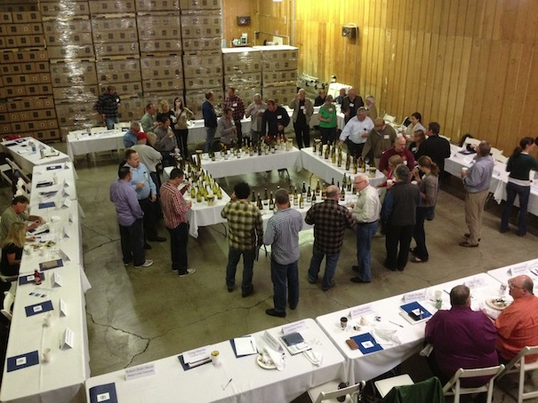 Oregon winemakers gather to taste Pinot Gris during the third annual Oregon Pinot Gris Symposium in Hillsboro, Ore. (Eric Degerman/Great Northwest Wine)