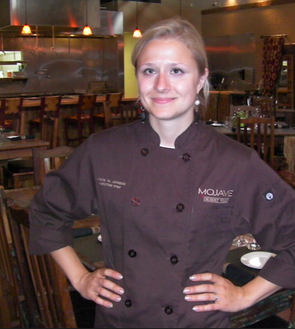Alaska native Kristina Martilla Johnson, age 26, has been executive chef for Mojave at Desert Wind Winery in Prosser, Wash., since 2012.