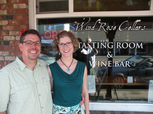 David Volmut and Jennifer States run Wind Rose Cellars in Sequim, Wash.