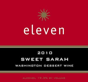 Eleven Winery is on Washington state's Bainbridge Island. This is a delicious fortified dessert wine.