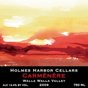 Holmes Harbor Cellars on Whidbey Island makes Carmenere from Walla Walla Valley grapes.