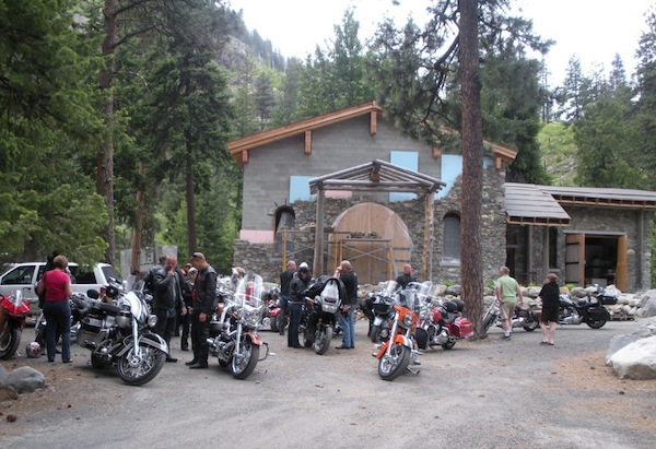 The 2010 Moteur de Vine group arrives at Boudreaux Cellars near Leavenworth, Wash.