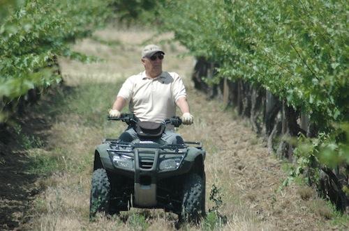 Paul Champoux is a wine grape grower in Washington's Horse Heaven Hills.