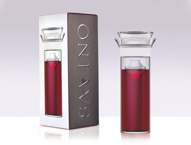 """The Savino Wine Preservation Glassware lives up to its slogan of """"Today's wine tomorrow."""""""