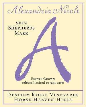 Alexandria Nicole Cellars' Shepherds Mark is a white blend of Rossanne, Marsanne and Viognier.