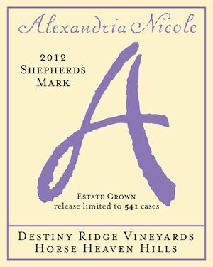 Alexandria Nicole Cellars' Shepherds Mark is a white blend of Rossanne, Marsanne and Viognier.