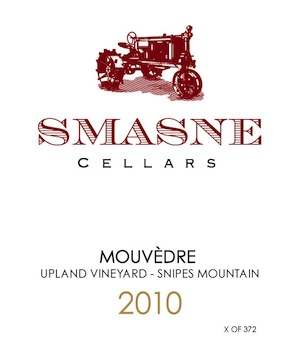 Smasne Cellars produces a delicious mourvedre from grapes grown on Snipes Mountain