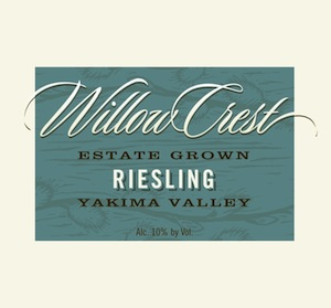 Willow Crest Winery makes Riesling from the Yakima Valley.