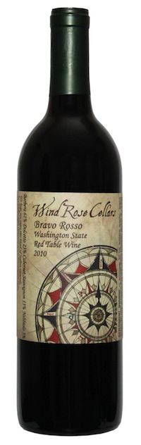wind rose cellars makes a red blend called bravo rosso.