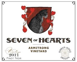 Seven of Hearts Winery is in Carlton, Oregon.