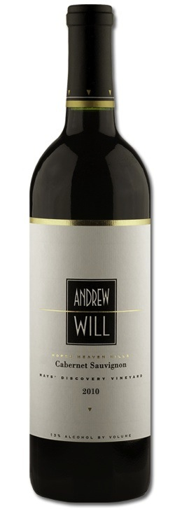 Andrew Will Winery is on Vashon Island, Washington. The grapes for this Cabernet Sauvignon come from Discovery Vineyard in the Horse Heaven Hills.