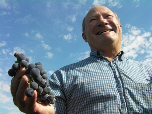 Dick Boushey owns Boushey Vineyard in the Yakima Valley near Grandview, Washington.