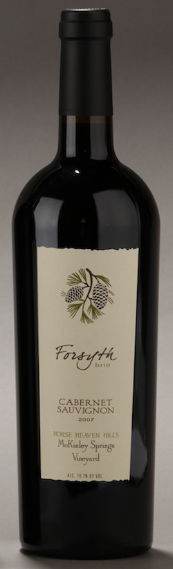 Forsyth Brio is a winery owned by David Forsyth. The grapes for this wine come from McKinley Springs Vineyard in Washington's Horse Heaven Hills.