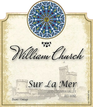 William Church Sur la Mer is a Merlot-based blend from a Woodinville, Wash., winery.