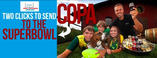 Copa Di Vino in The Dalles, Ore., hopes to become win a free TV advertisement to be broadcast during the 2014 Super Bowl.