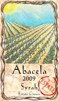 abacela-syrah-estate-2009-label