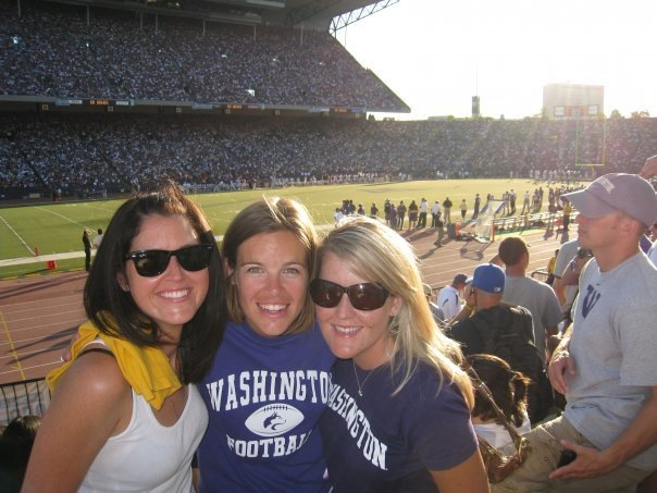 àMaurice Cellars winemaker Anna Schafer, left, is one of several University of Washington grads to have wines poured at Husky Stadium.