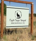 Coyote Canyon Vineyard, an 1,100-acre site, was established by Mike Andrews in 1994 south of Prosser in Washington's Horse Heaven Hills. Andrews launched Coyote Canyon Winery in 2004.