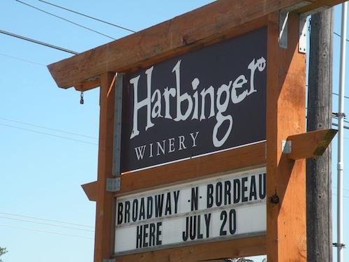 Harbinger Winery is west of Port Angeles, Washington.