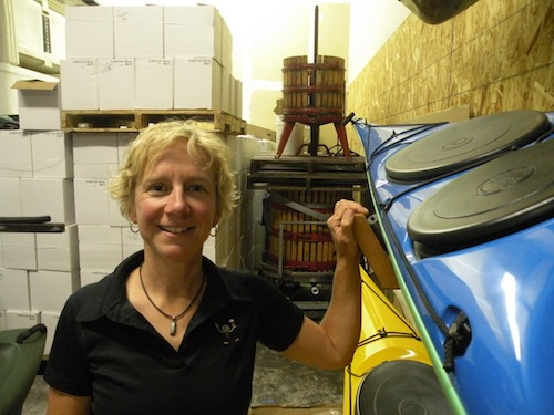 Sara Gagnon is owner of Harbinger Winery near Port Angeles, Washington.