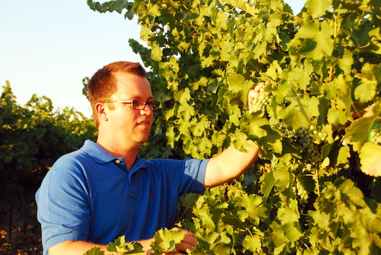 Marcus Miller makes the wine at Airfield Estates, his parent's winery in Prosser, Wash. Next month, Walla Walla Community College will honor Miller and three other graduates of the school's winemaking program.