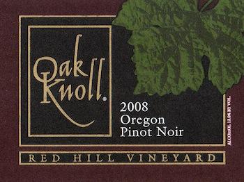 oak-knoll-winery-red-hill-vineyard-pinot-noir-2008-label