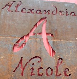 alexandria nicole cellars sign